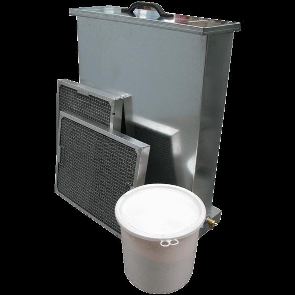 grease filter clenaing tank