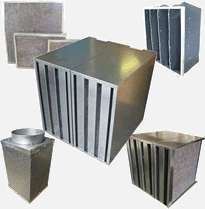 Activated Carbon Filters Group on Fan Coil Units For Air Filter Pad Holding Frame