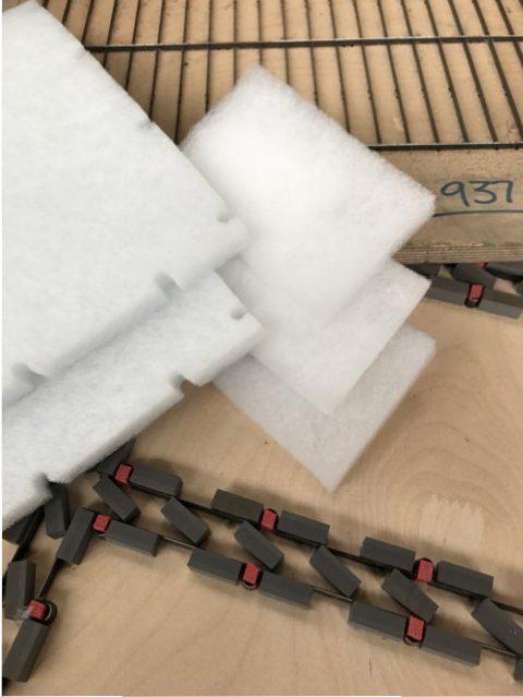 air filter media die cut pads