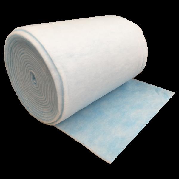 Secondary spray booth blue white filter media